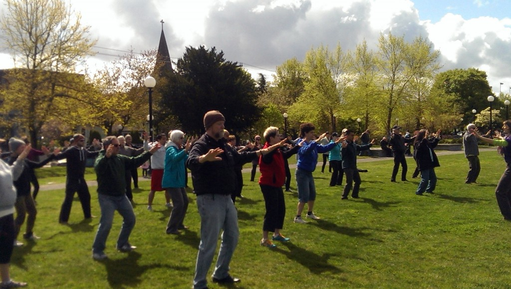 Seattle World Tai Chi Qigong Day 2014 - 5 Element Qigong Water Yang