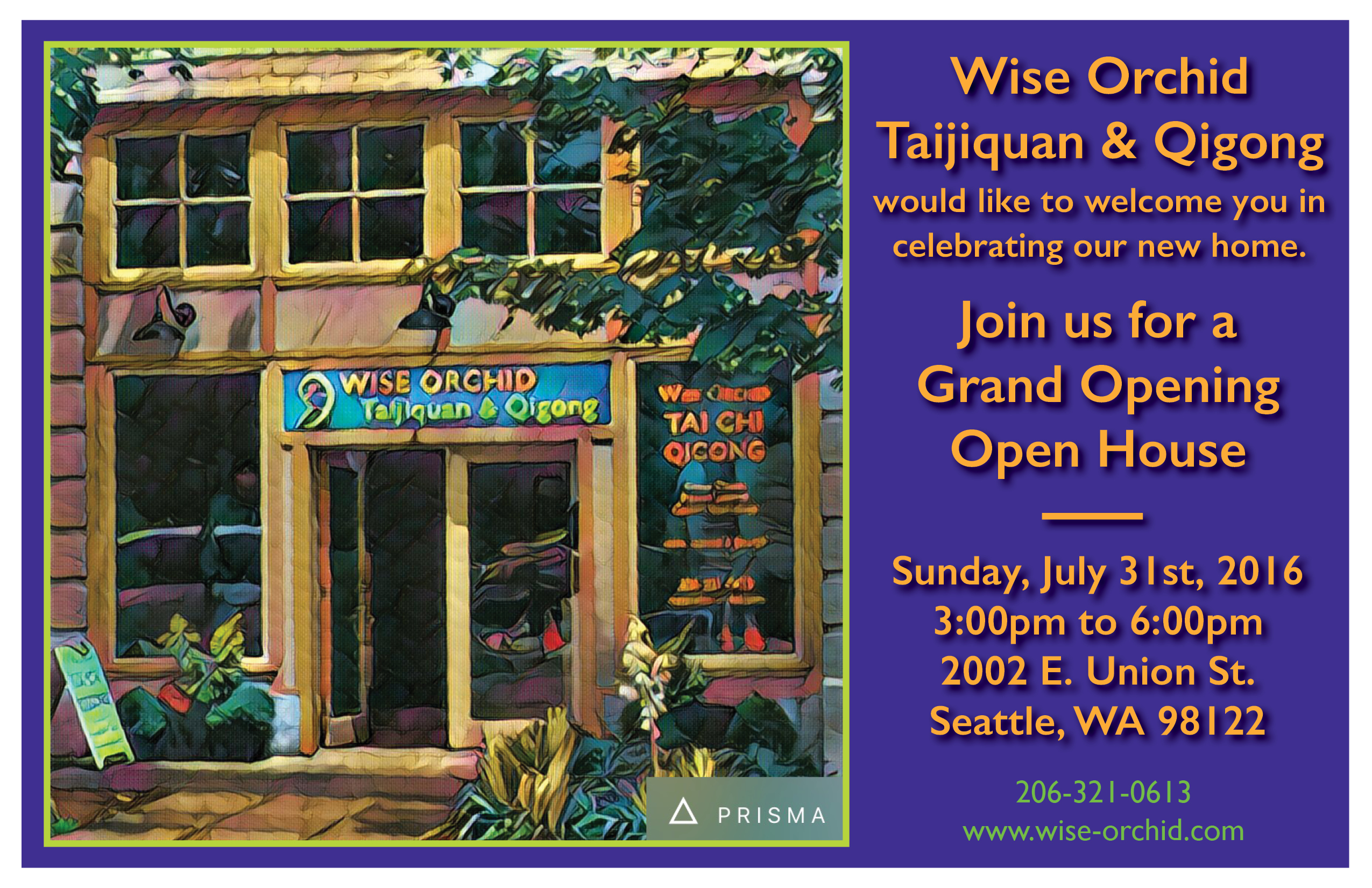 Grand Opening/Open House of New Home @ Wise Orchid Taijiquan & Qigong